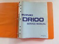 Suzuki DR100 1983-1990 Service Repair Shop Manual 99500-41033-03E Used OEM