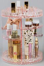 Sorbus 360° Makeup Organizer, Rotating Adjustable Carousel Storage (Pink)