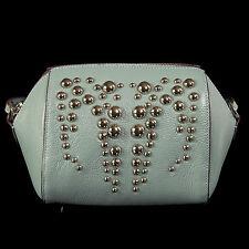 Noble Bags Billie Cross Over Bag Blue Silver Stuts Damen Lederhandtasche UVP 99€