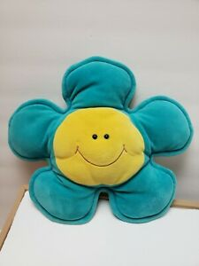 Blue Flower Face Plush Mini Pillow Cute Room Decor Y2K 90's Rare Kids Home Smile