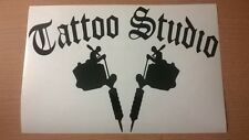 LARGE tattoo studio shop window sign vinyl graphic decal wall art sticker guns