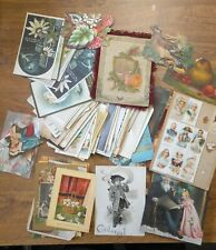 100+ Holiday & Post Cards & Other Paper Early 1900s Valentine Christmas Easter