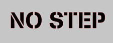 """NO STEP"" VINYL DECAL, STENCIL STYLING FOR CAR, TRUCK, SUV, LAPTOP, WINDOWS, ETC"
