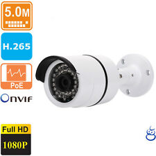 5MP POE IP Bullet 3.6mm Security Camera Outdoor Night Vision1 080P ONVIF W/Audio
