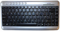 A4 Tech Mini Keyboard Silver USB Slim Compact  UK Layout KL-5 Windows 7 8 10