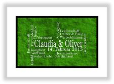 Gift idea for the partner Man + Woman Deco Art Print Picture Decoration Green
