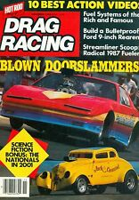 DRAG RACING MAGAZINE, NOVEMBER 1986, JACK THE BEAR, FRANK & LINDA MAZI