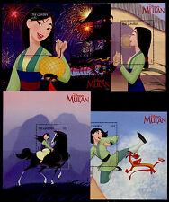 Gambia 2045-8 MNH Disney, Mulan