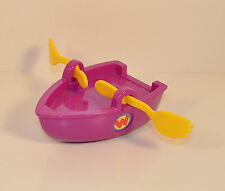"2007 Purple Rowboat Row Boat 5"" Mattel Action Figure Vehicle Wonder Pets"