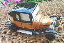 """RARE voiture """"CITROËN B2 1922"""" bouteille céramique pub """"liqueur GARNIER""""1970"""