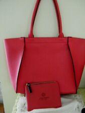 ELIZABETH ARDEN RED PVC LARGE SHOPPER TOTE BAG W/ SHISEIDO COSMETIC CASE