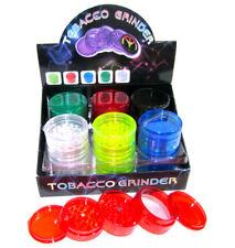 Wholesale Lot Tobacco Grinder Full Tray 12pcs Acrylic Plain Herb Pollinator 60mm