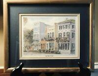 Charleston, SC RAINBOW ROW Open Edition Print - Signed  Professionally Framed