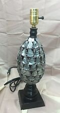 Old Vintage Italian Lamp Wrought Iron Tole Painted Metal Leaf Italy Retro Light