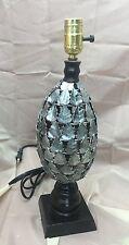 Old Vintage Italian Lamp Wrought Iron Tole Painted Metal Leaf Italy Retro Light