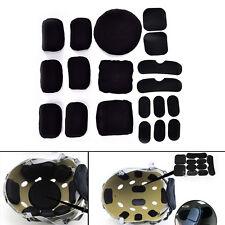 19pcs Black Eva Foam Pad Cushion for Tactical Airsoft Military Cycling Helmet Z