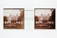 Monaco Monte-Carlo Casino Plaque stéréo Vintage 1912