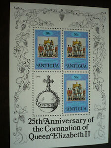 Stamps - Antigua (Barbuda) - Scott# 351 Souvenir Sheet