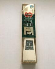vintage custom deco paper towel holder scot towels plastic  still in box