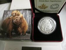 2015 Canada .9999  Silver Grizzly Bear  20 dollar coin  Togetherness
