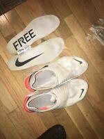 Men's Nike Free RN Flyknit 3.0 Running Shoes Grey/Black/Red— US 11