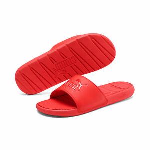 Puma Popcat Big Logo Red Mens Slides/Sandals Size 8 New