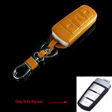 3BTN Leather Remote Smart Key Chain Holder Cover Case Fit for VW Passat CC B6 B7
