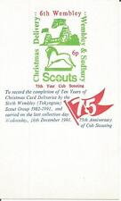 1991 GB 6th Wembley (tokyngton) Gruppo Scout Natale POST Cenerentola/Card