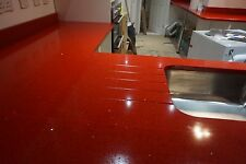 Red with Flecks   | Quartz   KITCHEN WORKTOP| All Colours Available |