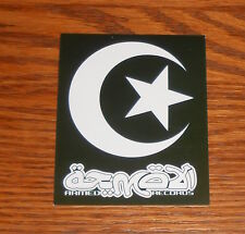 Armed Records Logo Sticker Rectangle Promo 3.25 x 2.5 Cresent Moon and Star Rare