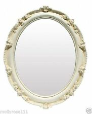 Glass Frame Oval Decorative Mirrors