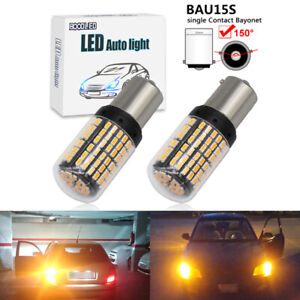 2X super bright 1156 BAU15S PY21W 144SMD led Car turn signal lamp Bulb Amber