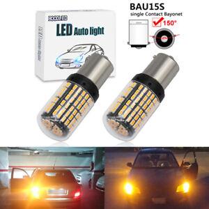 2X super bright 1156 BAU15S PY21W 144SMD led Car turn signal lamp Bulb Amber