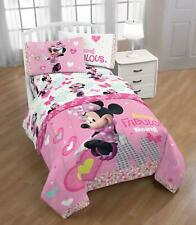 Minnie Mouse Fan Kids Bedding Twin Soft Sheet Set Girls Pink Toddlers Bedroom