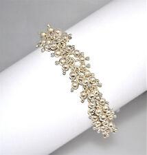 #7342 - Silpada B0919 - Cha Cha Bead Bracelet - Sterling Silver - Toggle Clasp