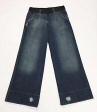 Rose thin jeans XS W26 tg 44 loose gamba larga denim retro donna usato blu T2287