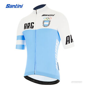 NEW 2021 Santini ARGENTINA National Team Short Sleeve Cycling Jersey