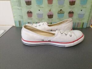 LADIES WHITE DAINTY SLIP ON CONVERSE ALL STAR Size 5 UK