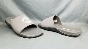 Timberland Men's Fells Slide Sandals Slides Slip-On Grey White Size 12 NEW!