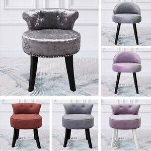 Plush/Crushed Velvet Dressing Piano Table Stool Vanity Upholstered Bedroom Chair