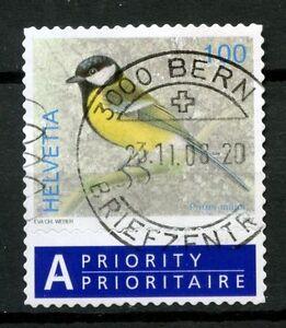 Switzerland 2006-9 SG#1673 100c Birds Definitive Used + Label #A48991