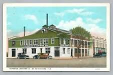 Obere Laundry Co St.Petersburg Florida ~ Antik Reiniger Werbe 1920s