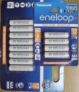 Panasonic Eneloop AAA NiMH Rechargeable 12 Pk batteries 2100 cycle