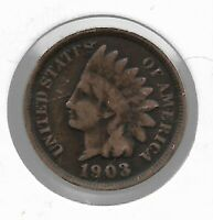 Rare Very Old Antique US 1903 Indian Head Penny USA Collection Coin Cent LOT:V43