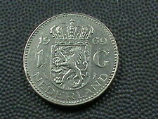 NETHERLANDS      1  Gulden    1969    ALMOST  UNCIRCULATED