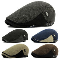 Men's Duckbill Newsboy Gatsby Cap Golf Driving Cabbie Beret Flat Ivy Hats Winter