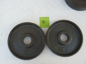 Vintage Unbranded Ivanko Olympic size Deep Dish Weights weight plates 10 lb 10lb