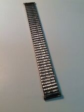 VINTAGE STRETCH WATCHBAND FANCY KREISLER 19mm STAINLESS STEEL #87