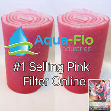 TWO 10' ROLLS - FILTER MEDIA PADS FOR SALT WATER AQUARIUMS. + PINKY PIGGY CARD