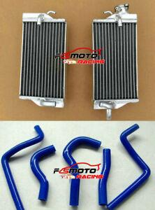 For Honda CR125 CR125R 2-stroke 2003 03 Aluminum Radiator & blue Silicone Hose